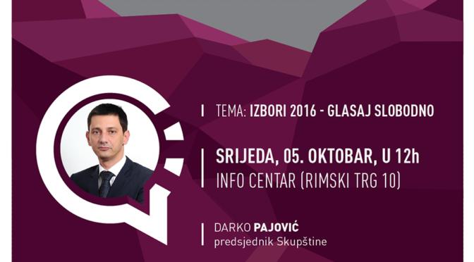 Građanski sat, Izbori 2016 – Glasaj Slobodno!