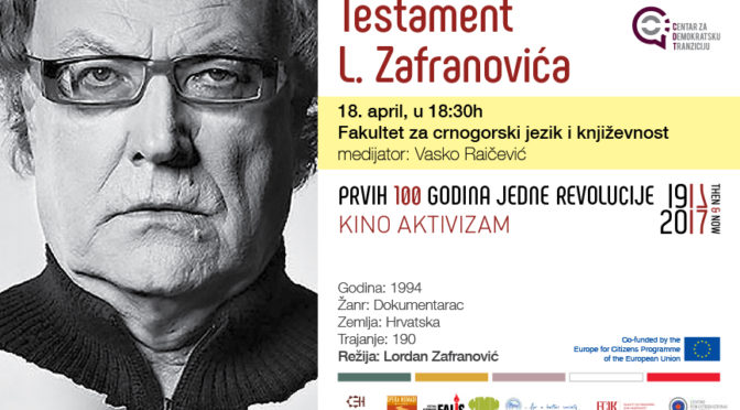 Kino aktivizam: Testament L. Zafranovića